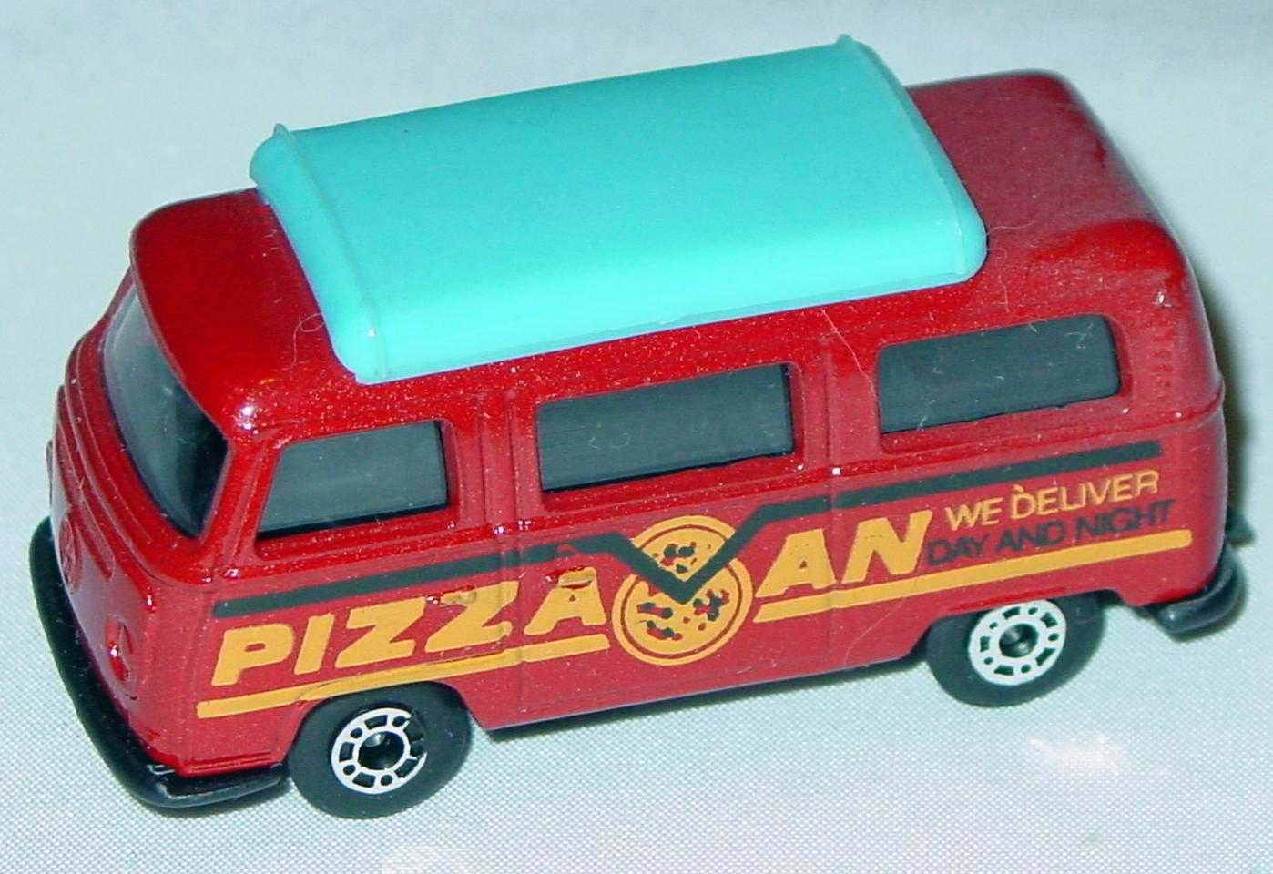 Hungarian 23 A 10 - Pizza Van Brick light blue top black interior black yellow and black tampo