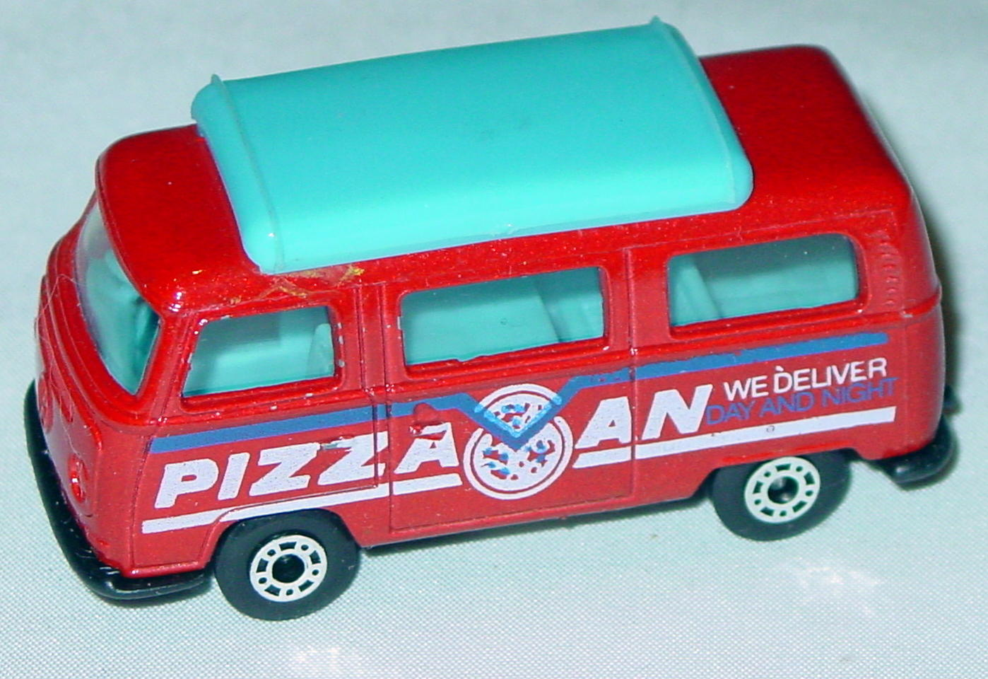 Hungarian 23 A 6 - Pizza Van met Red blue top black interior black white and blue tampo