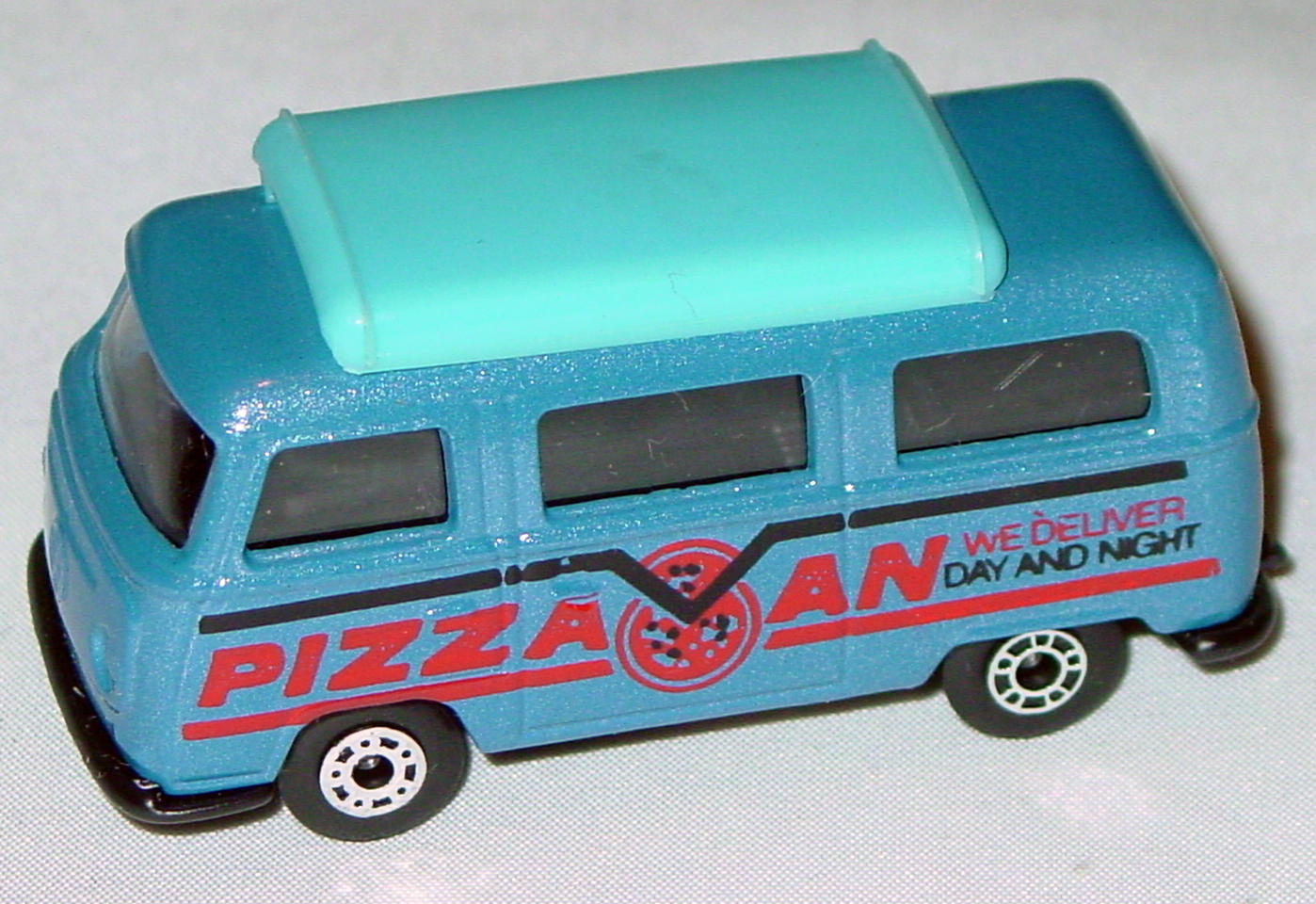 Hungarian 23 A 1 - Pizza Van met Blue blue top black interior black red and black tampo