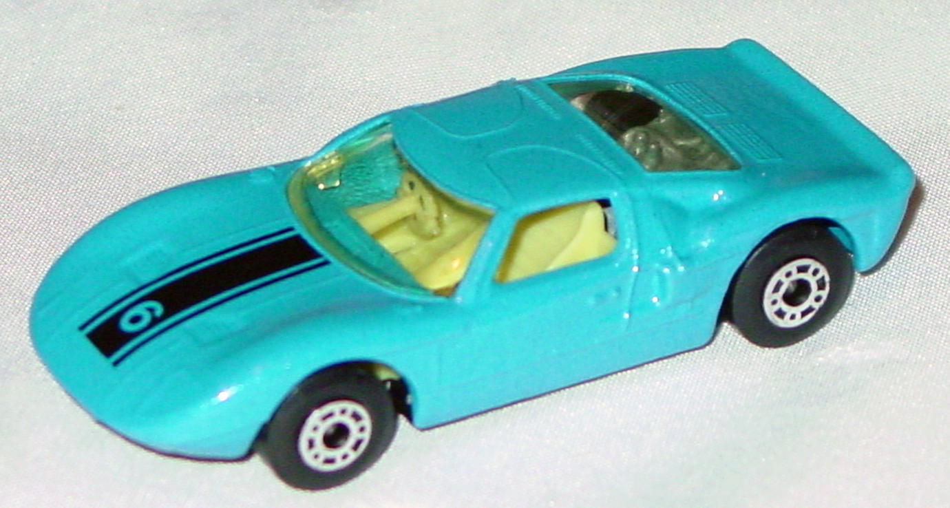 Hungarian 41 A 1 - Ford GT met Blue black 6 yellow interior clear window black base