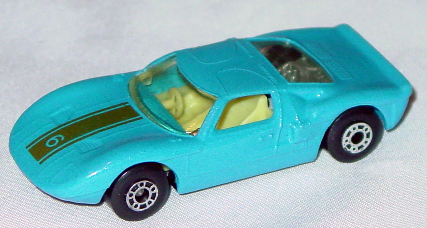 Hungarian 41 A 1 - Ford GT met Blue gold 6 yellow interior clear window black base