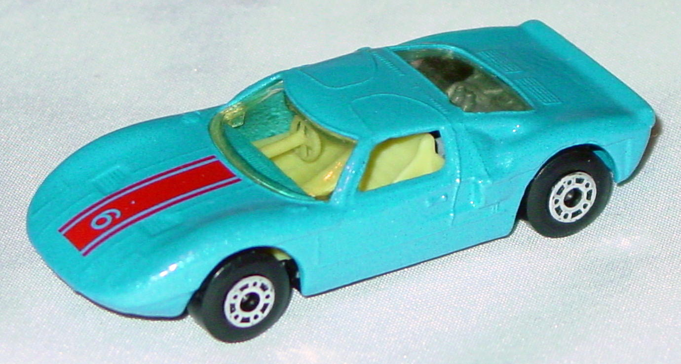 Hungarian 41 A 1 - Ford GT met Blue red 6 yellow interior clear window black base