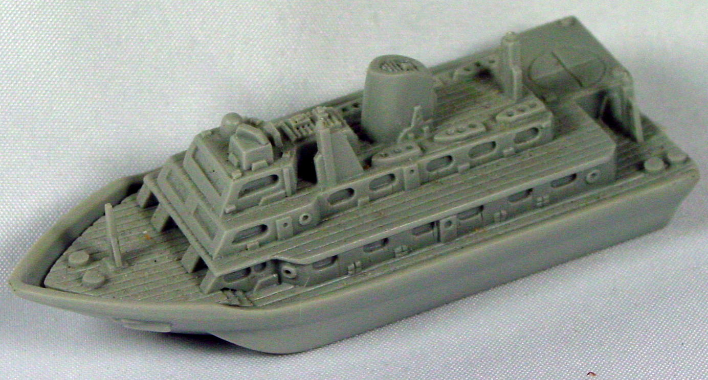Pre-production - RESIN Hospital Boat light Grey Never Issued