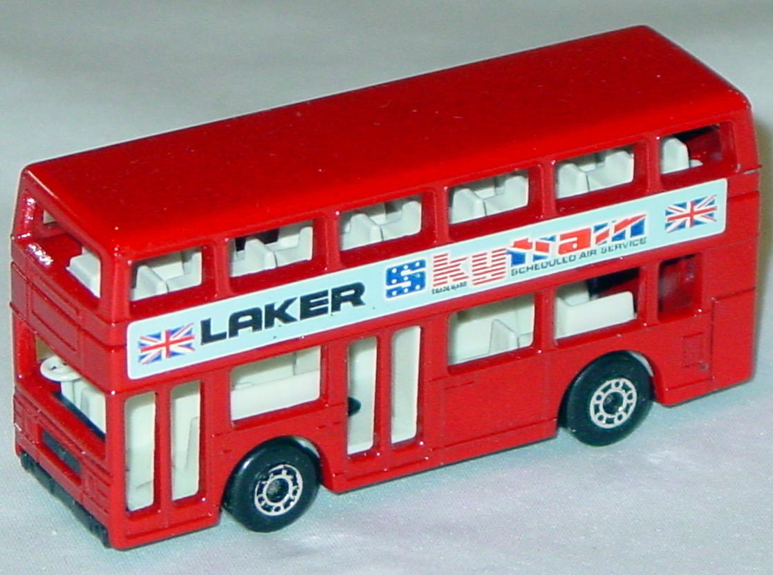 Lesney SuperFast 17 C 2 - Titan Bus red Laker three slight chips