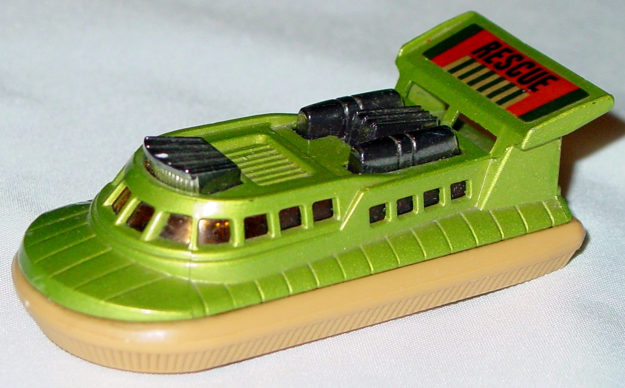 Lesney SuperFast 02 C 1 - Hovercraft light green and tan silver air amber Rescue chrome rubs