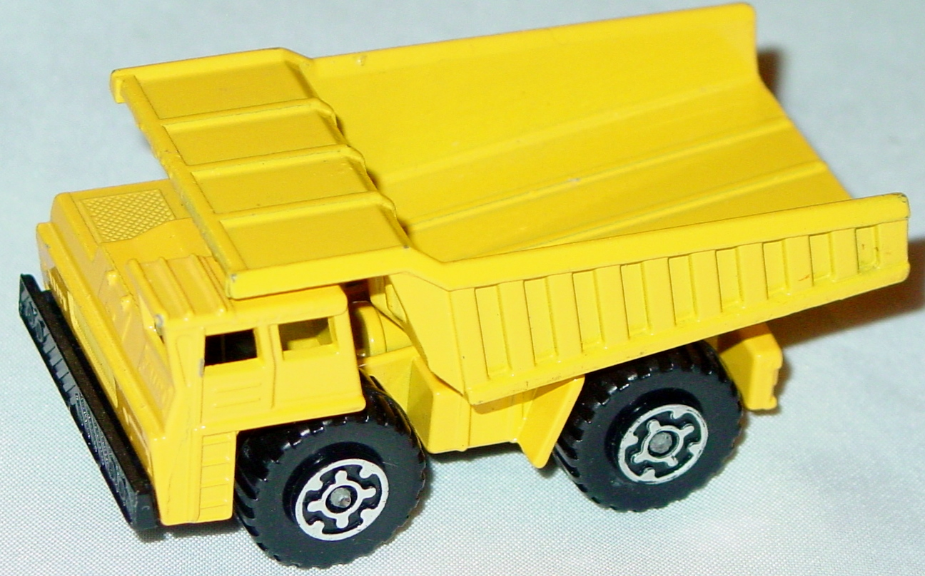 Lesney SuperFast 58 C 2 - Faun Dumper Yellow body/dump three slight chips