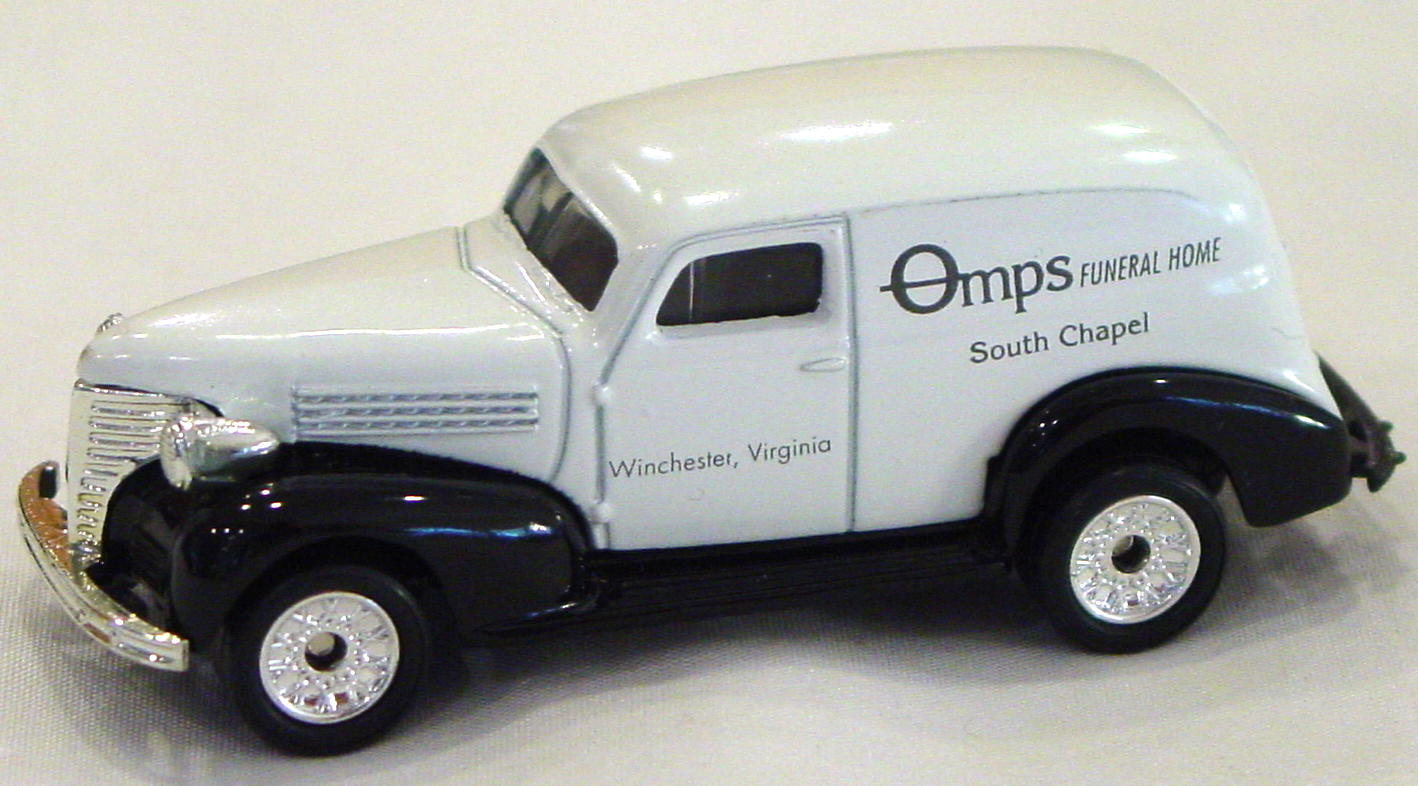 ASAP-CCI 215 A 11 - Chevy Panel Van White Black Oops Funeral Home CCI