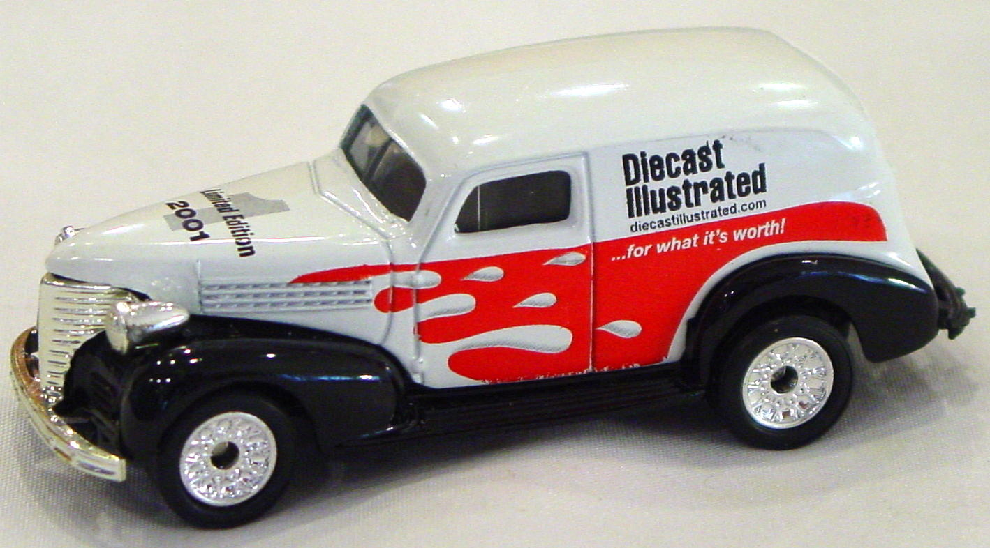 ASAP-CCI 215 A 21 - Chevy Panel Van White Diecast Illustrated CCI