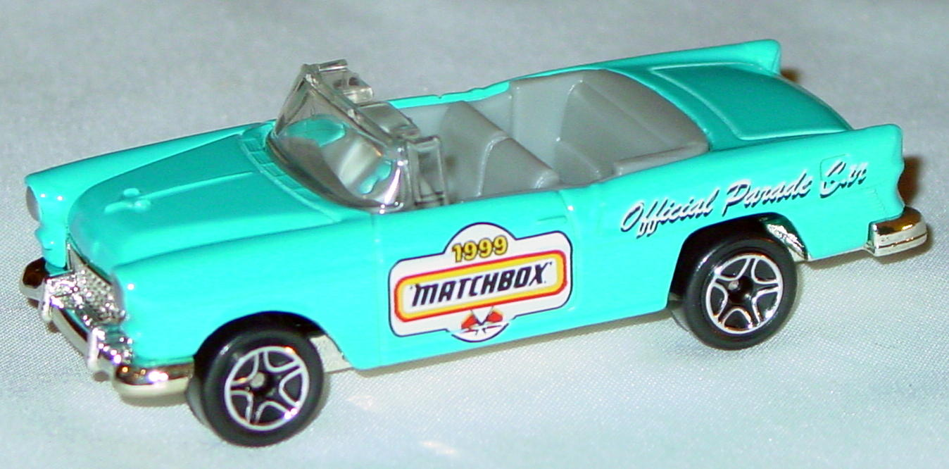Offshore SuperFast 46 J 2 - 55 Chevy Bel Air convertible pow Blue 99 MBX Parade Car