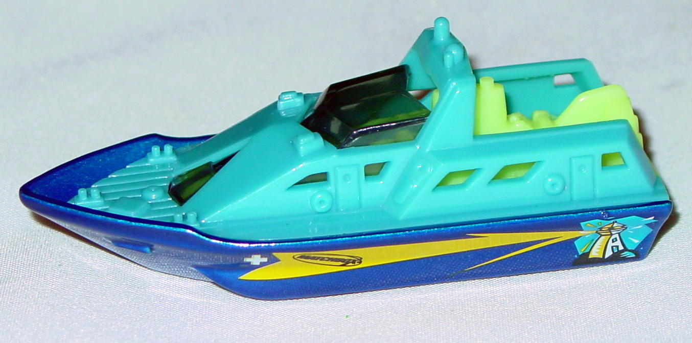 Offshore SuperFast 61 M 3 - 2002 38 Rescue Boat pow Blue bright blue base lighthouse