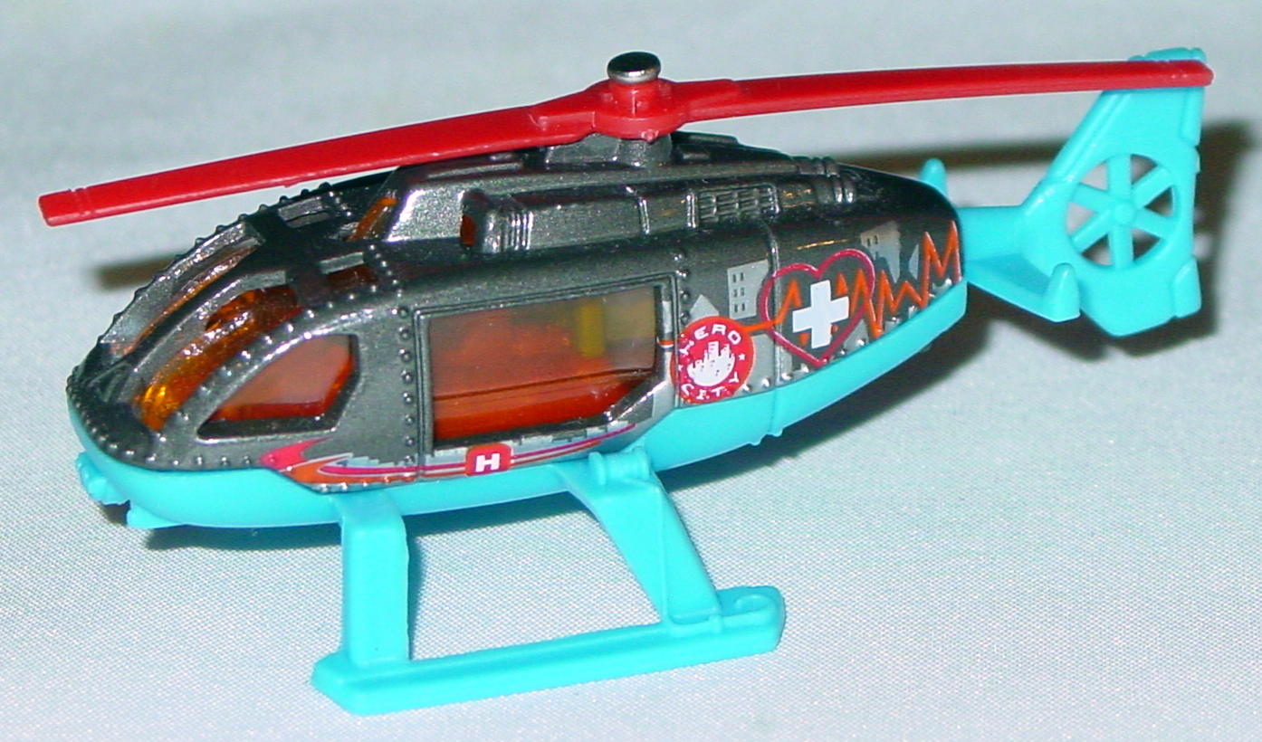 Offshore SuperFast 63 O 7 - 2004 48 Rescue Heli Charcoal red blades Hero City made in China