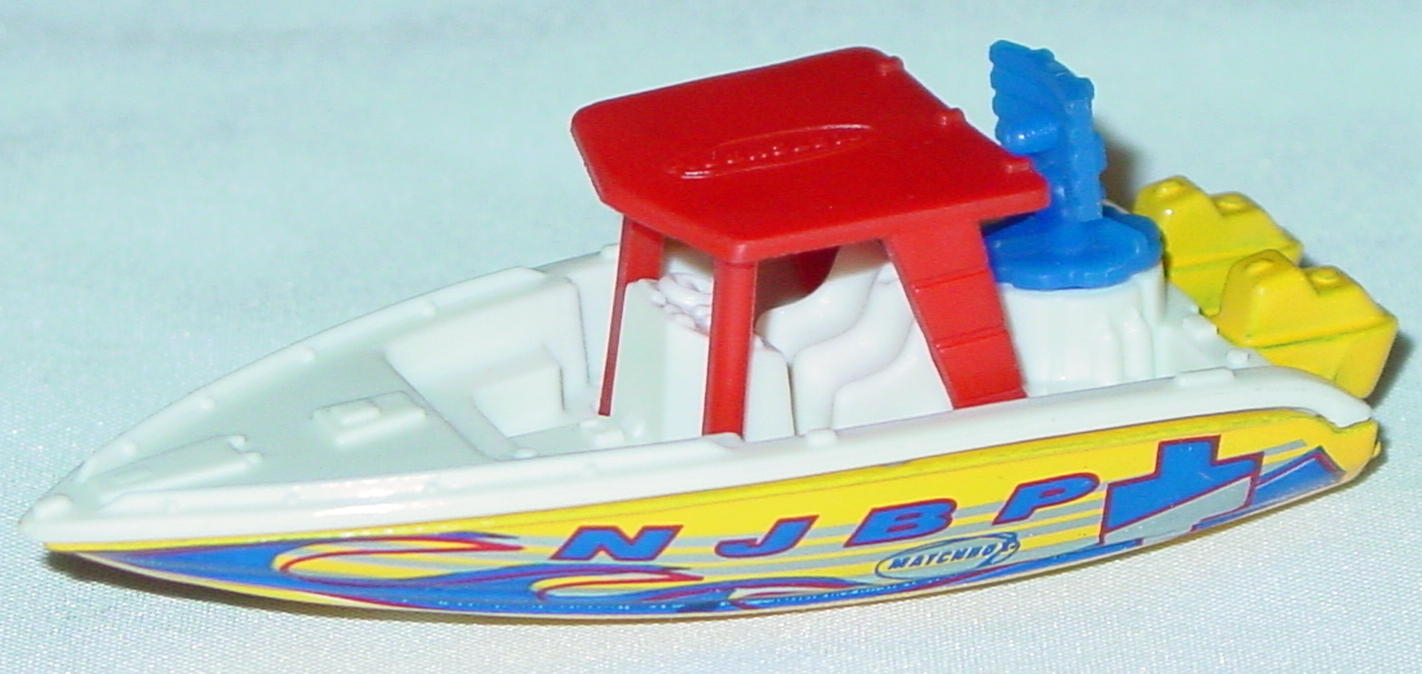 Offshore SuperFast 68 Q 1 - 2001 68 Speed Boat White yellow red roof yellow wheels NJBP