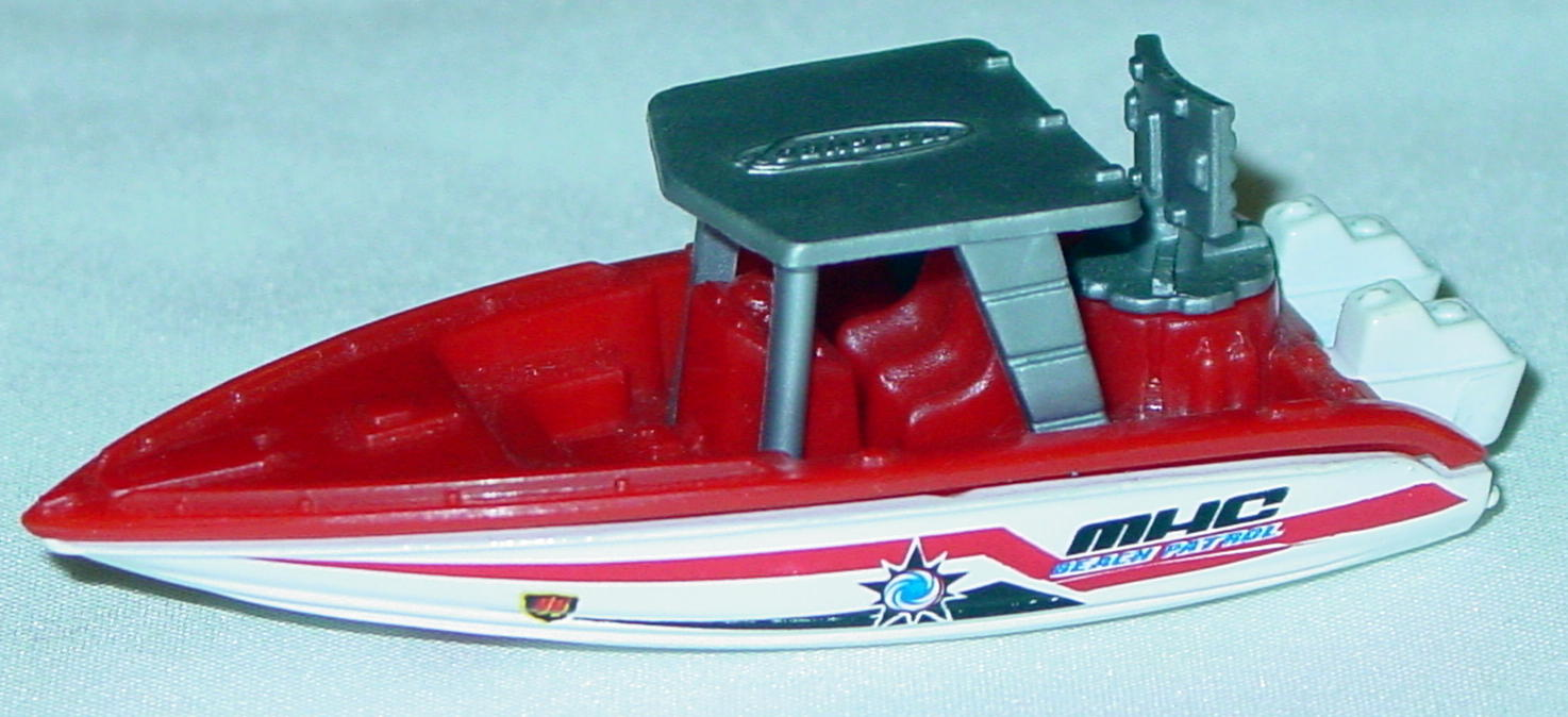 Offshore SuperFast 68 Q 8 - 2003 44 Speed Boat Red white white wheels MHC Beach Pat