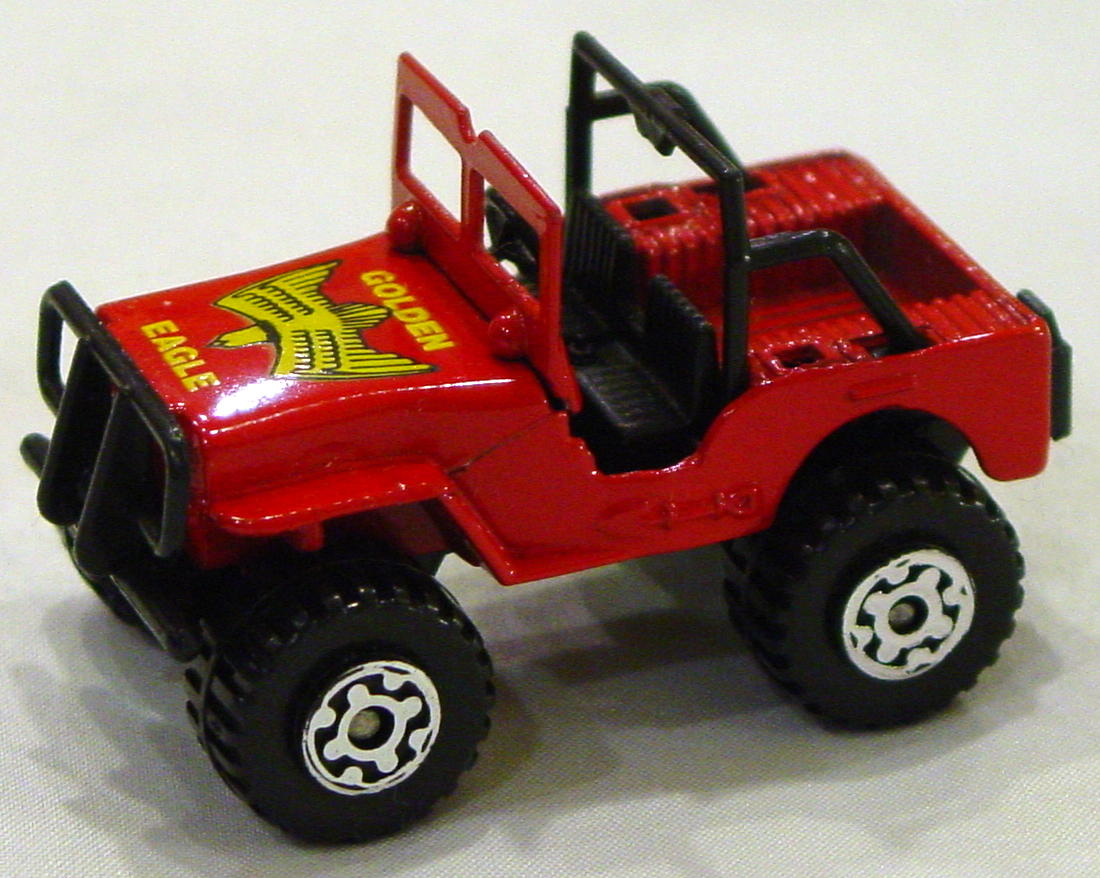 Offshore SuperFast 05 D 6 - 4x4 Jeep red black plastic base Golden Eagle Made in Macau