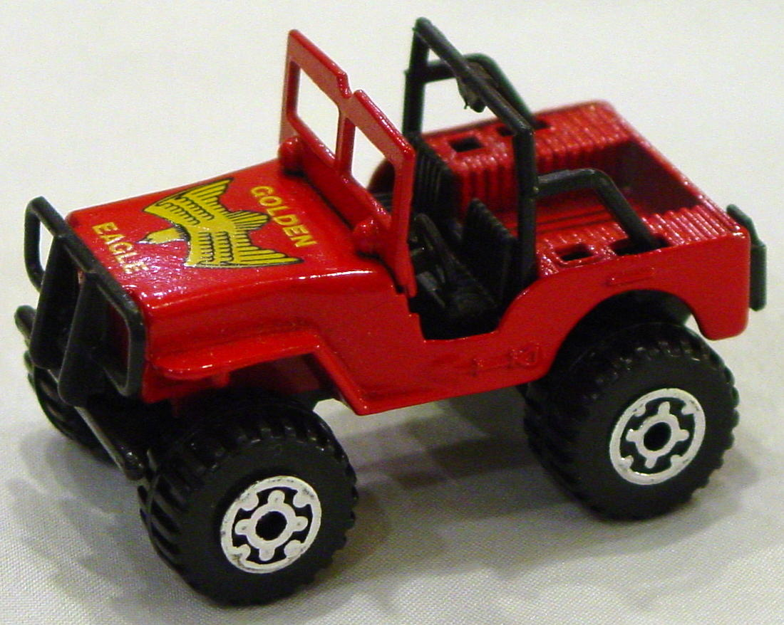 Offshore SuperFast 05 D 7 - 4x4 Jeep lighter red black plastic base Golden Eagle made in Thailand