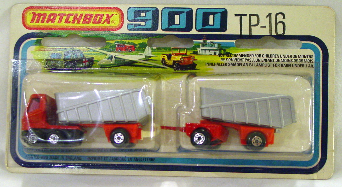 Twin Pack 16 C 3 - RED/SIL-GRY 50B Artic truck/50C trailer C9 Card
