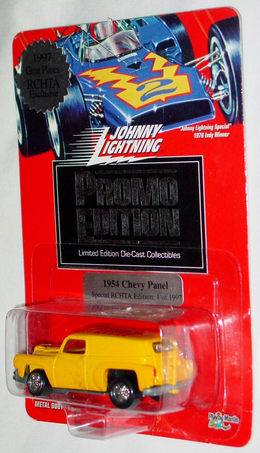 White Lightning - PROMO EDITION 54 Chevy Panel Yellow RCHTA Ltd 1997