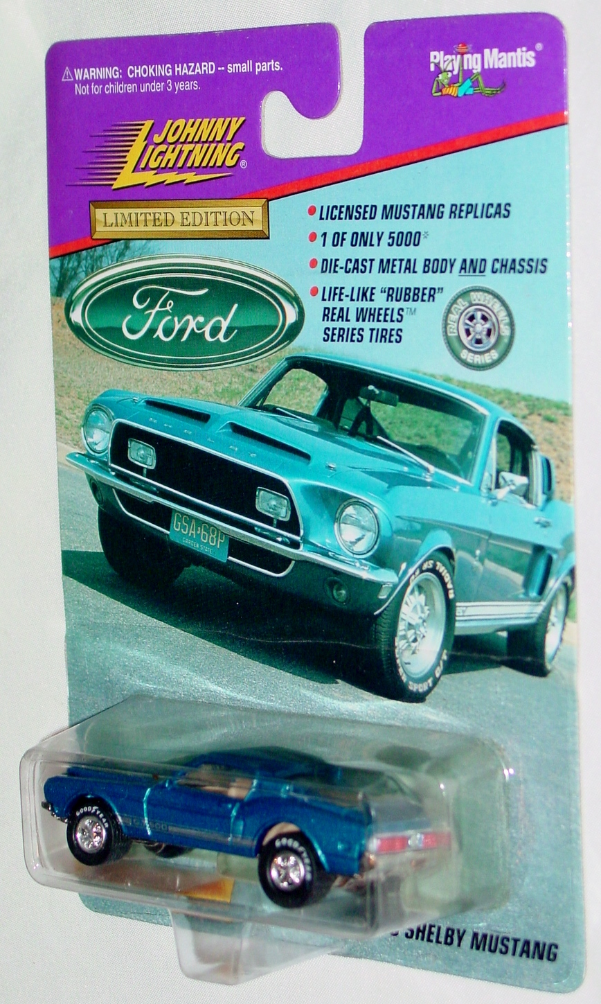 White Lightning - FORD 1968 Shelby Mustang blue Ltd 5000