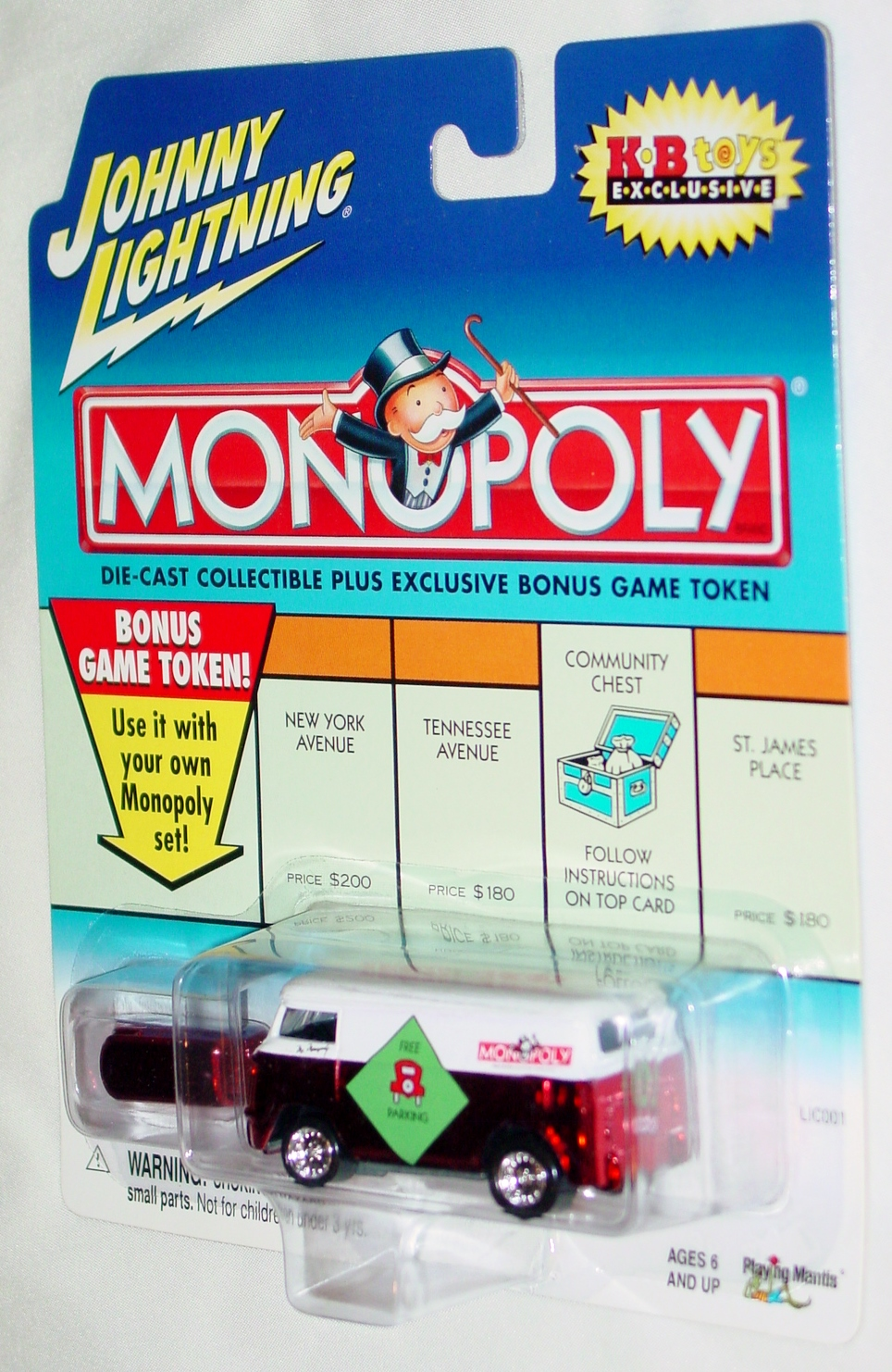 White Lightning - Monopoly 60 VW Van Candy Red Free Parking