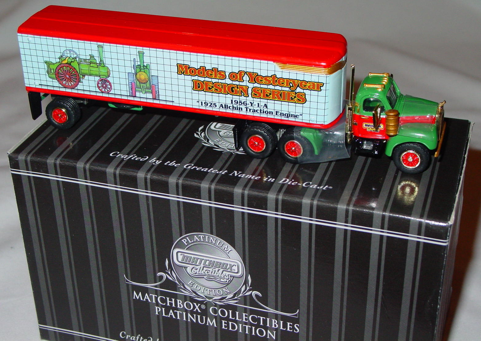 Collectibles - 38045 PLATINUM Mack B56 Tractor Trailer Y Design Team