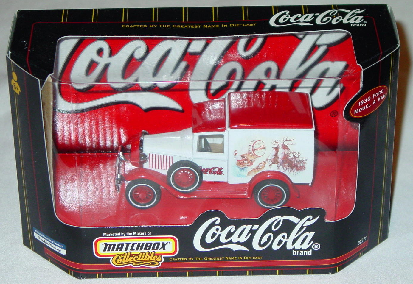 Collectibles - 37971 30 Model A Van White Coke