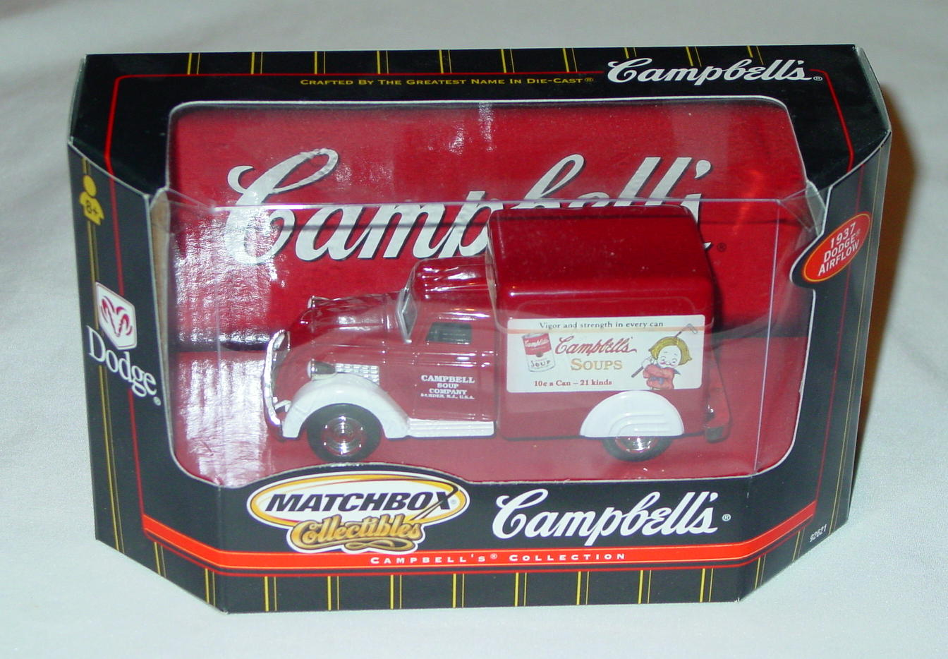 Collectibles - 92621 37 Dodge Airflower Red and White Campbells Americana
