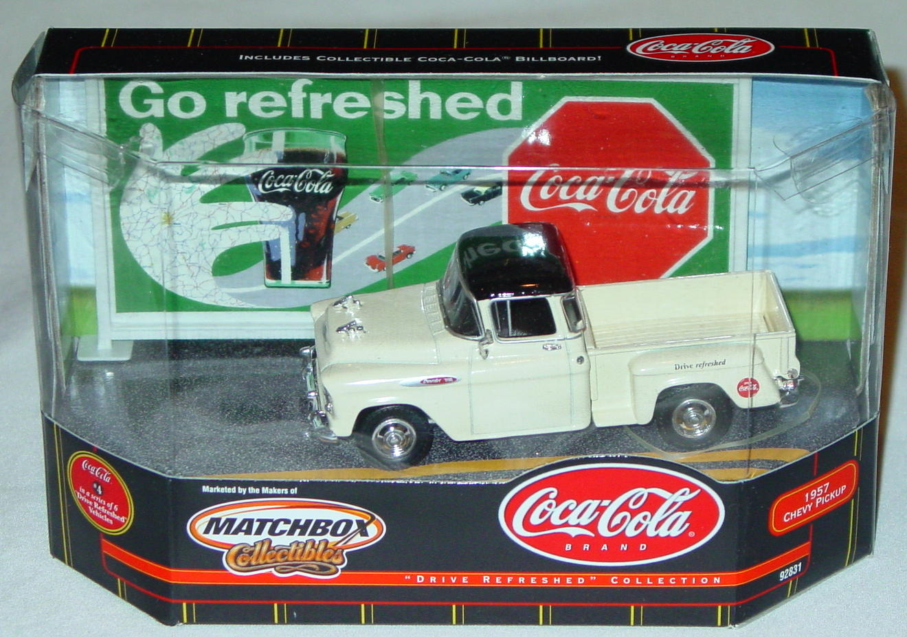 Collectibles - 92831 57 Chevy Pickup Cream Coke Drive Refreshed