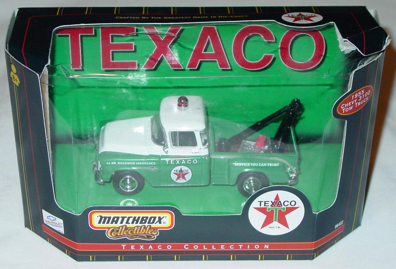 Collectibles - 96632 55 Chevy 3100 Pickup Green and White Texaco