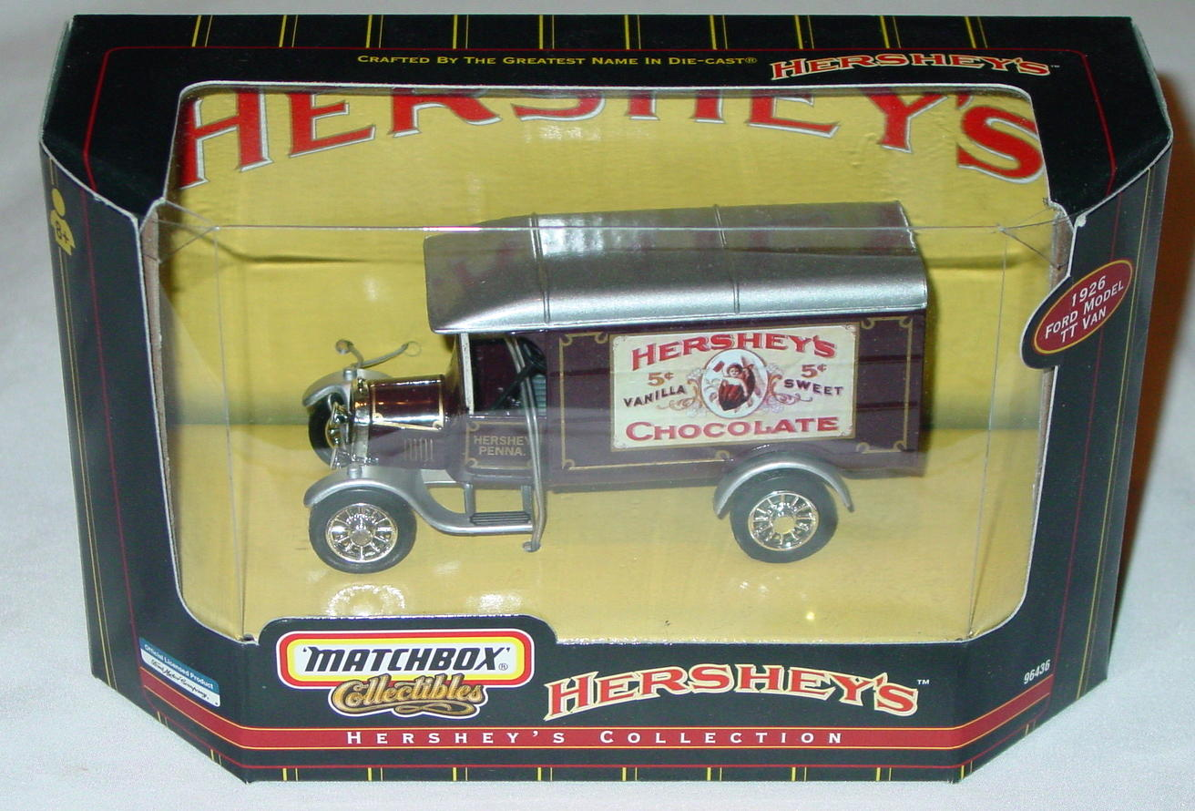 Collectibles - 96436 26 Model TT Van Brown Hersheys Americana