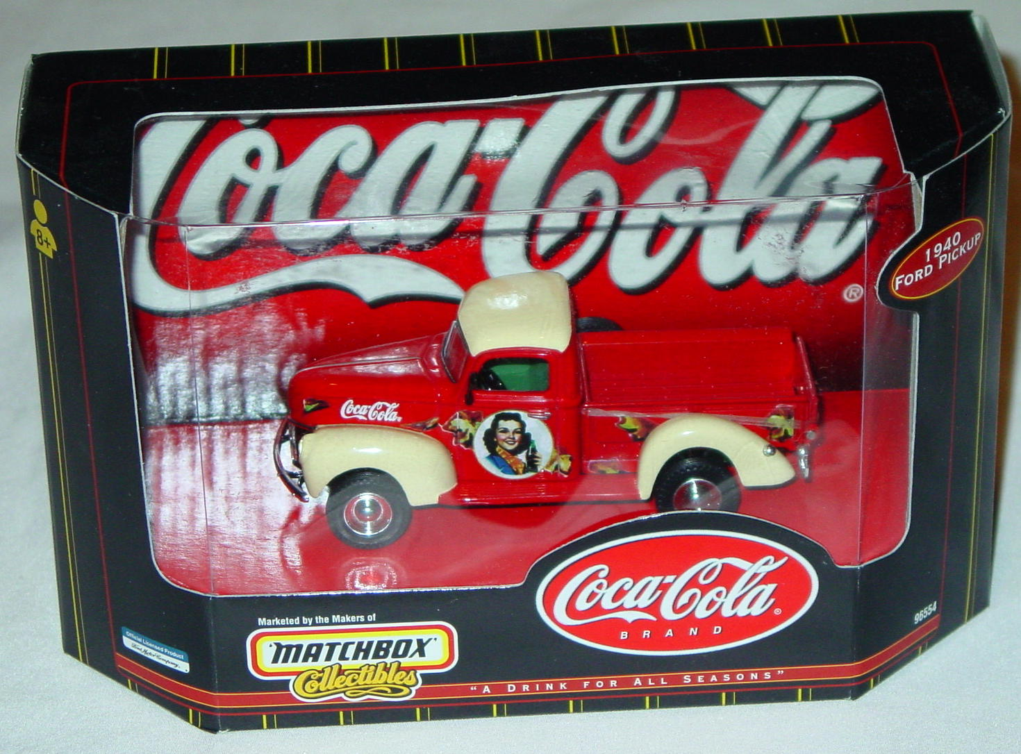 Collectibles - 96554 40 Ford Pickup Red Coke