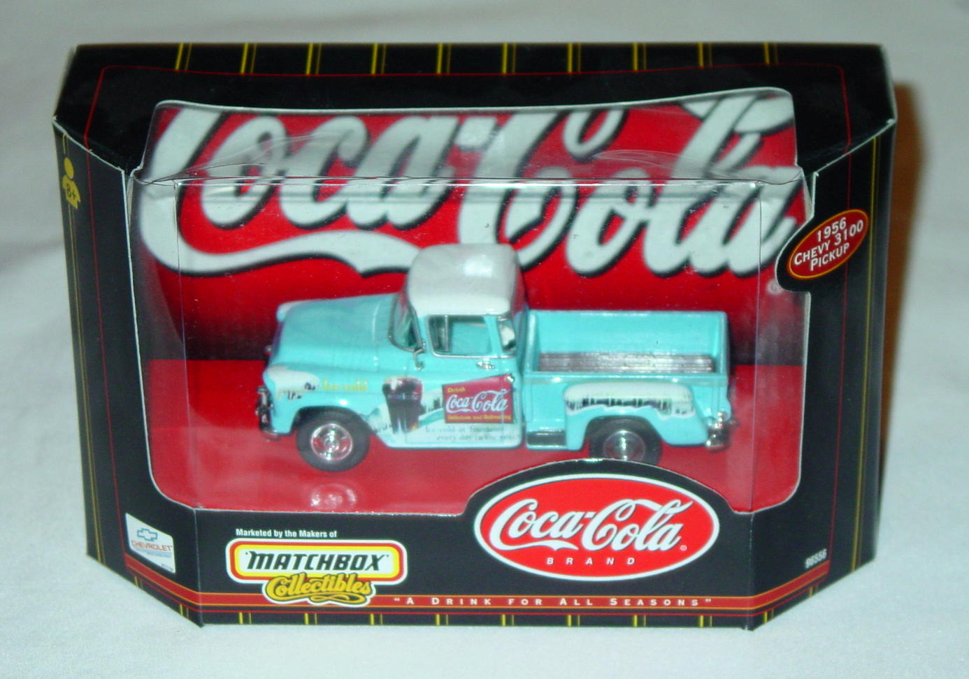 Collectibles - 96556 56 Chevy 3100 Pickup light Blue Coke Ice Cold