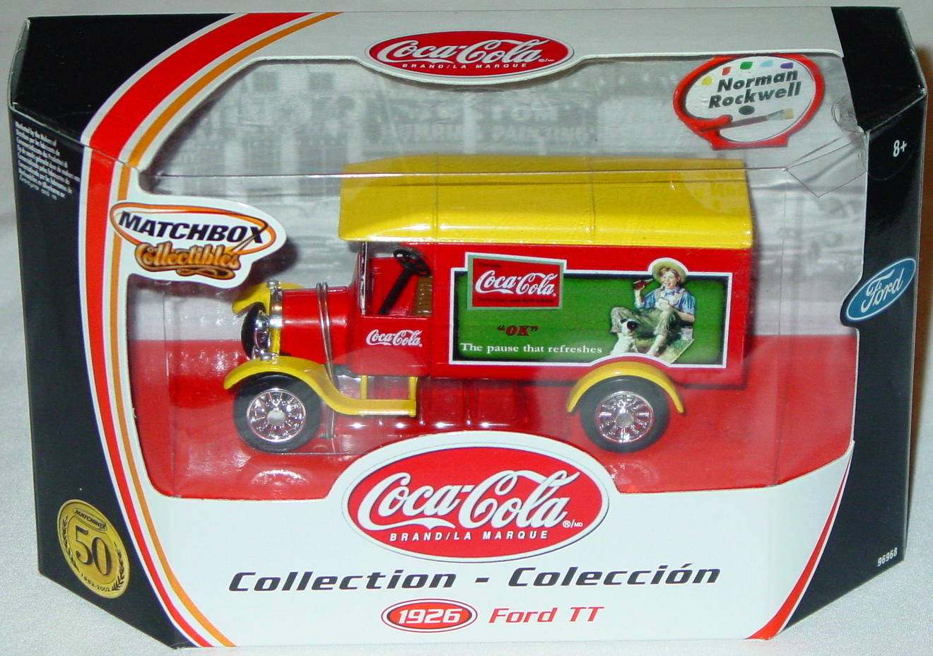 Collectibles - 96968 26 Ford TT Van Coke Norman Rockwell