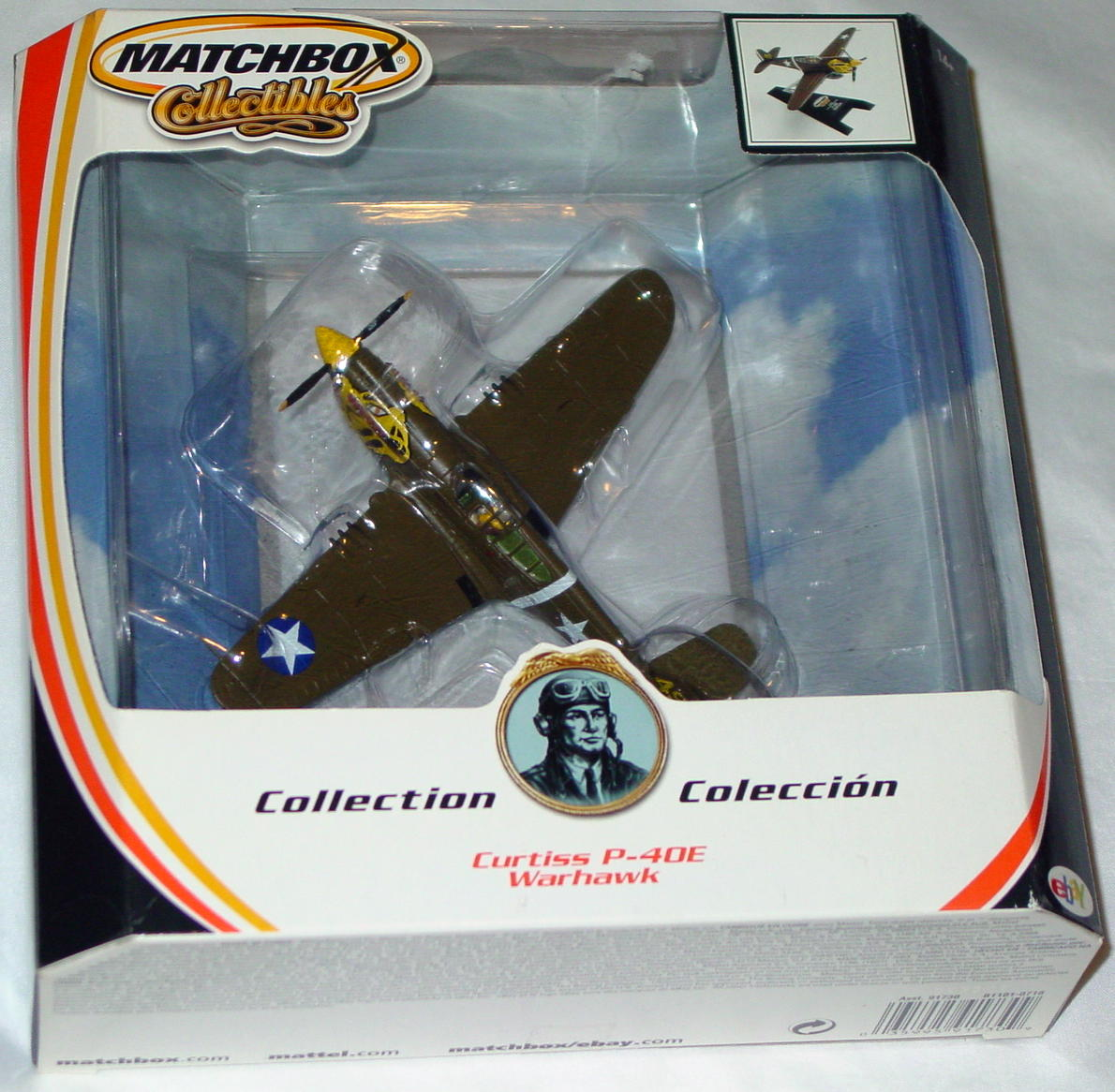 Collectibles - B1101 Olive Curtiss P-40E Warhawk