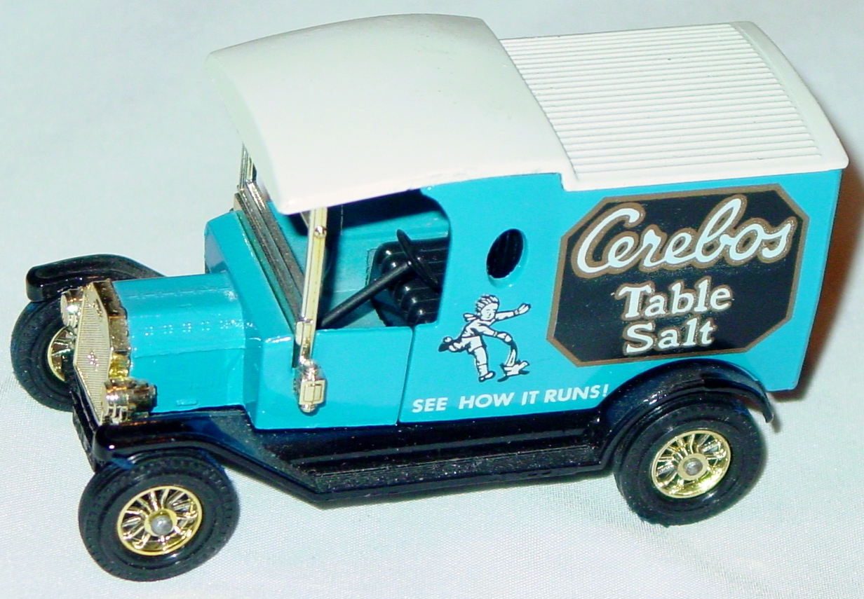 Models of YesterYears 12 C 19 - 1912 Model T Van Cerebos white roof