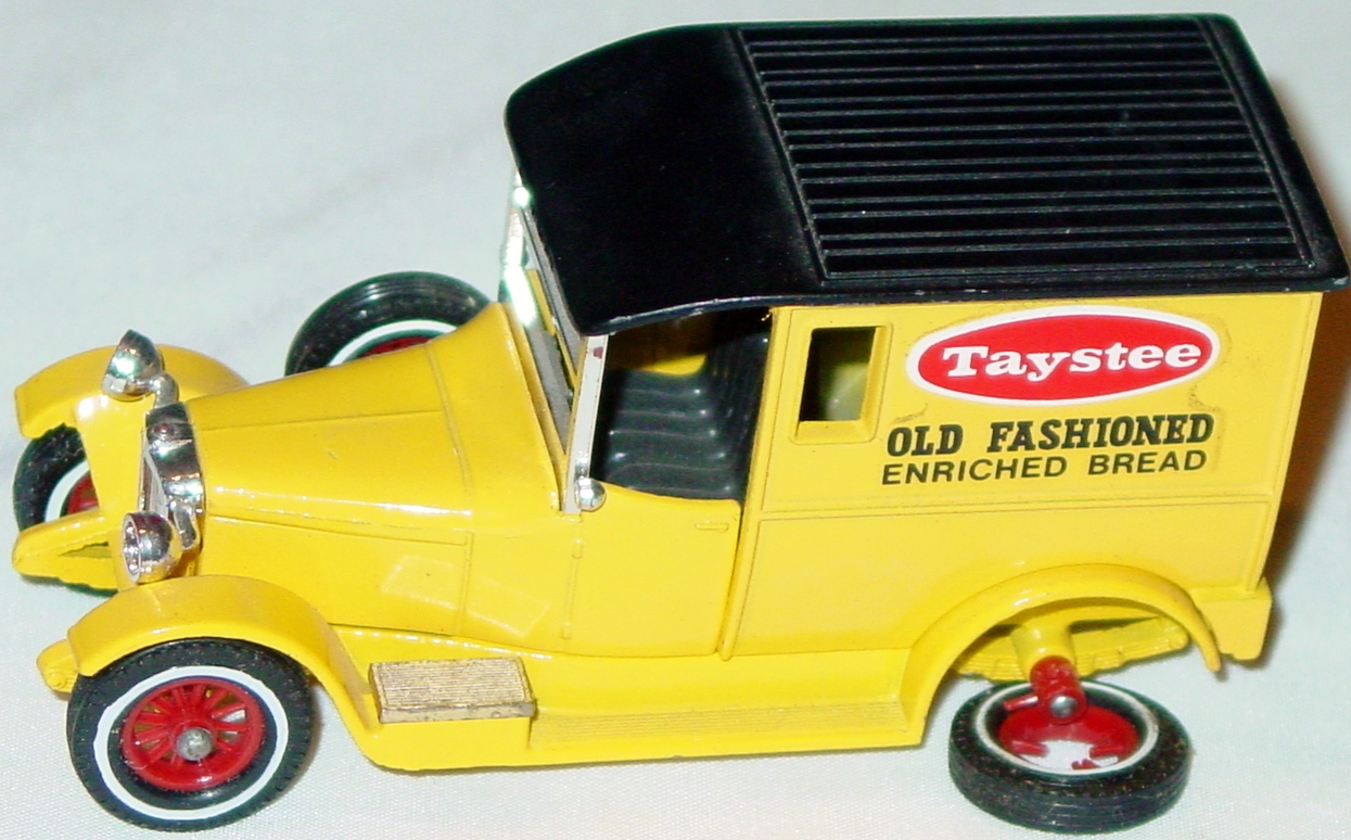 Models of YesterYears 05 D 11 - 1927 Talbot Van Taystee white walls broken r wheel spokes