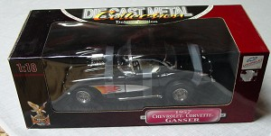 1_18 Scale - YATMING 57 Vette Gasser Black flames
