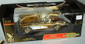 1_18 Scale - YATMING 57 Corvette 24K GOLD 1 of 9999 Millenium